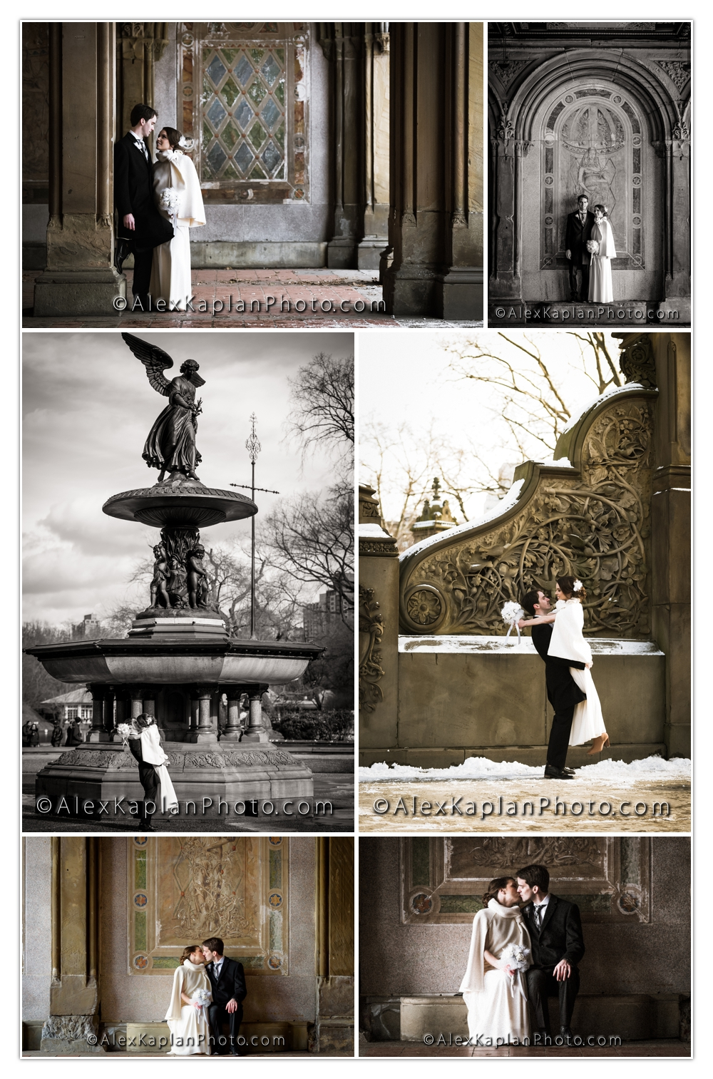 Central Park New York City Bride and Groom Photo Shoot